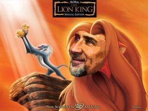 ニコラスがライオンキングしてる画像ください