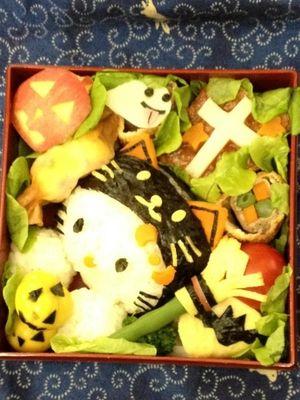 お友達のハロウィンの弁当ー!すごい!!