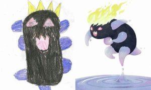 【これは面白い…!】子どもたちが描いた絵を、プロが本気で仕上げた比較がステキ11枚
